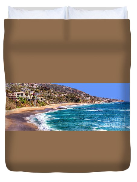 South Laguna Beach Coast Duvet Cover