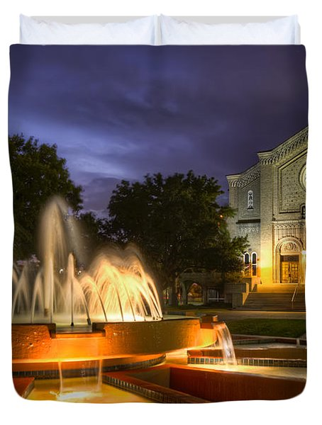 South Main Baptist Church Duvet Cover