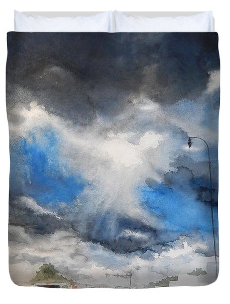 South Maple Road   Ann Arbor Michigan Duvet Cover by Yoshiko Mishina