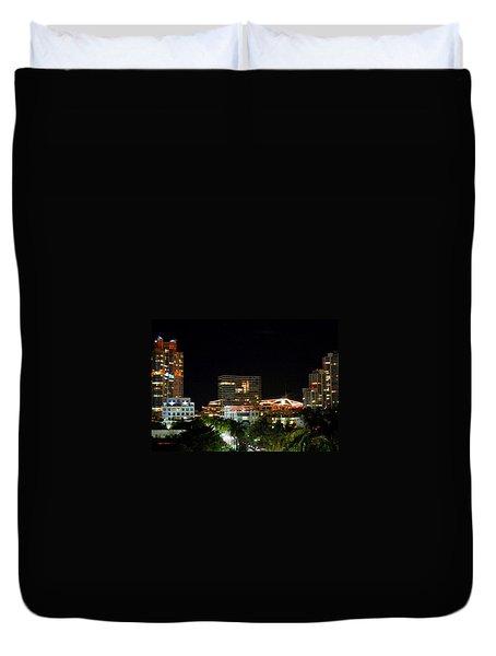South Pointe Miami Duvet Cover by J Anthony