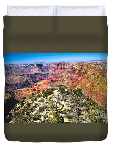 South Rim From The Butte Duvet Cover