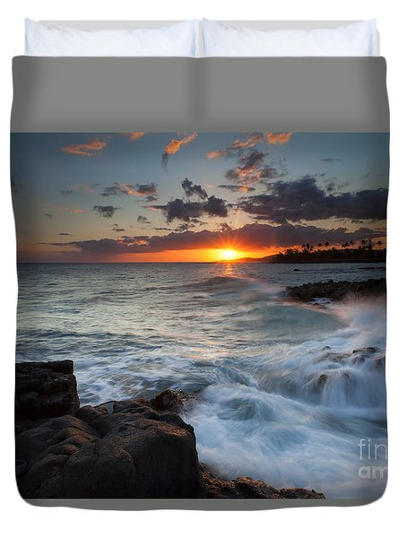 South Shore Waves Duvet Cover by Mike  Dawson