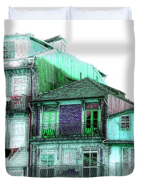 Duvet Cover featuring the photograph South Side Of Town-featured In Old Buildings And Ruins Group by Ericamaxine Price