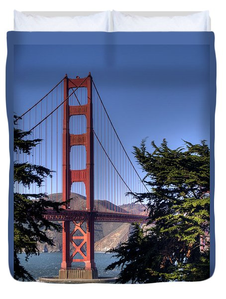 South Tower Duvet Cover by Bill Gallagher