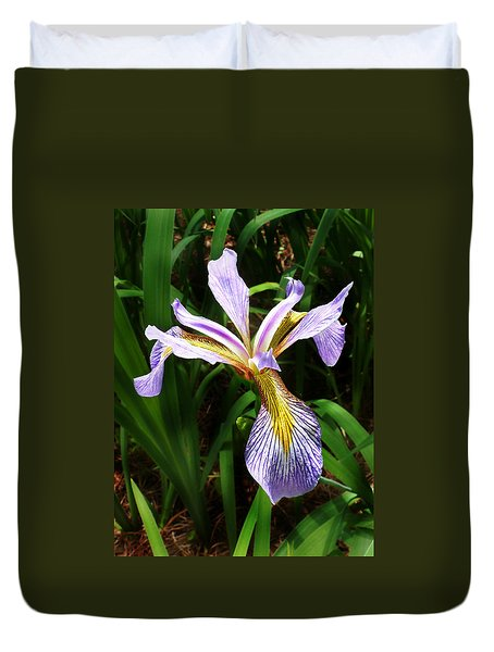 Southern Blue Flag Iris Duvet Cover
