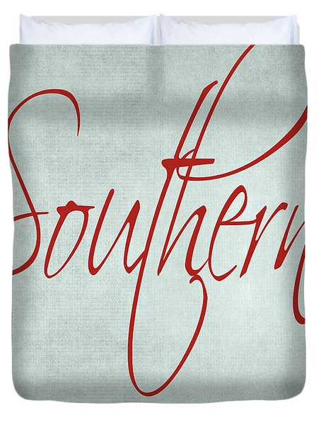 Southern By The Grace Of God Duvet Cover