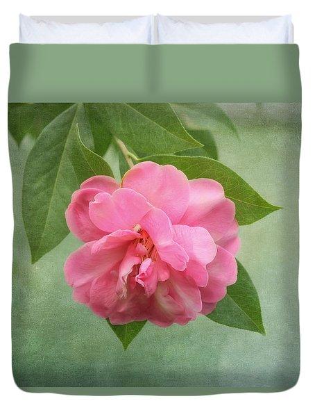Southern Camellia Flower Duvet Cover