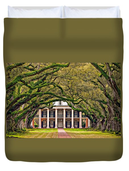 Southern Class Oil Duvet Cover