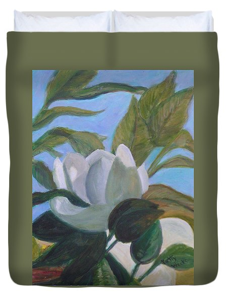 Southern Magnolias Duvet Cover