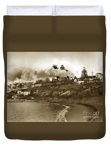 Southern Pacific Del Monte Passenger Train Pacific Grove Circa 1954 Duvet Cover