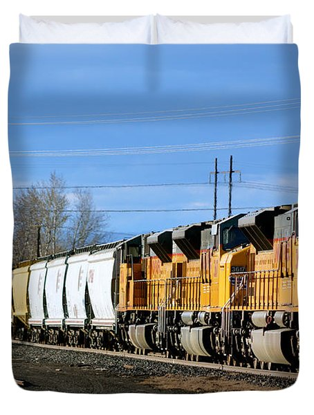 Southern Pacific Loading Up Duvet Cover