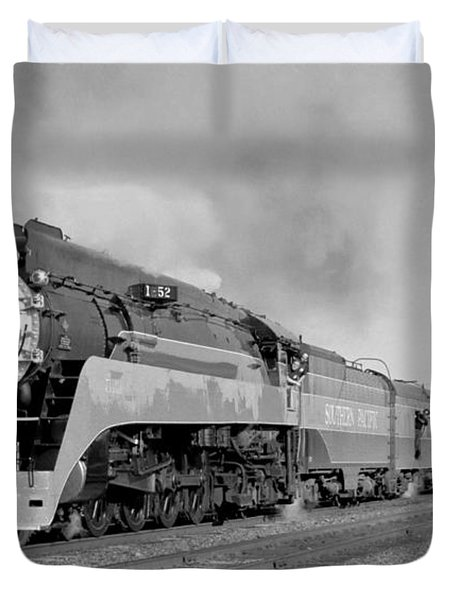 Southern Pacific Train In Texas Duvet Cover