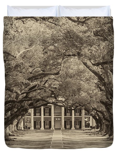 Southern Time Travel Sepia Duvet Cover by Steve Harrington