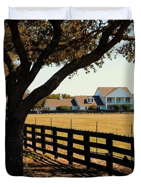 Southfork Ranch - Across The Pasture Duvet Cover by Robert ONeil