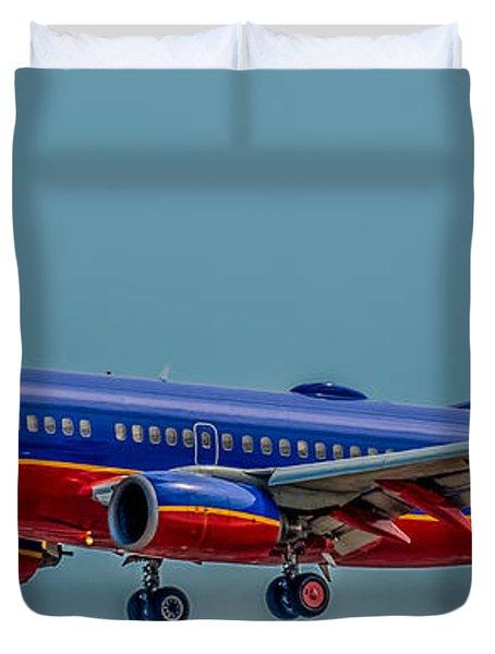 Southwest 737 Landing Duvet Cover