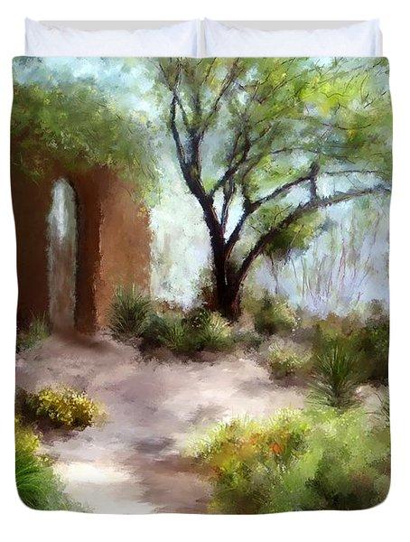 The Meditative Garden Duvet Cover