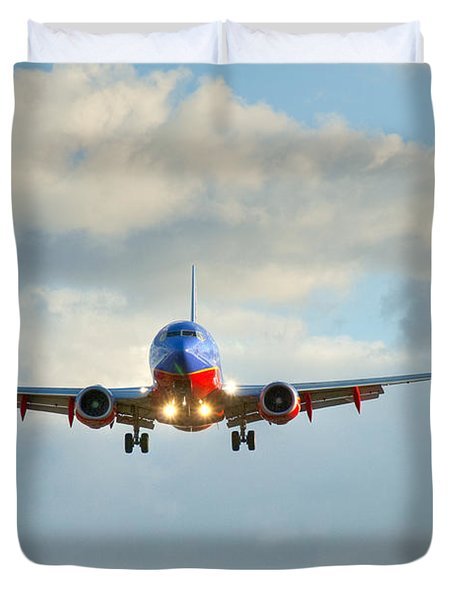 Southwest Airline Landing Gear Down Duvet Cover