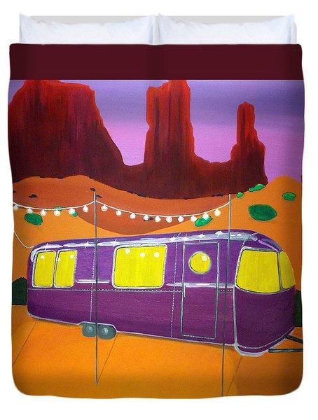 Southwest Contemporary Art - Sedona Twilight Duvet Cover