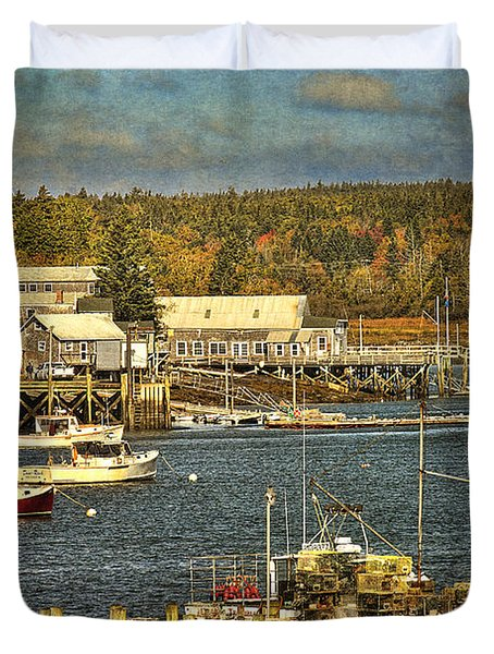 Southwest Harbor Duvet Cover by Cindi Ressler