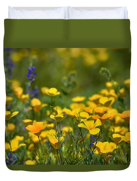 Southwest Wildflowers  Duvet Cover by Saija  Lehtonen