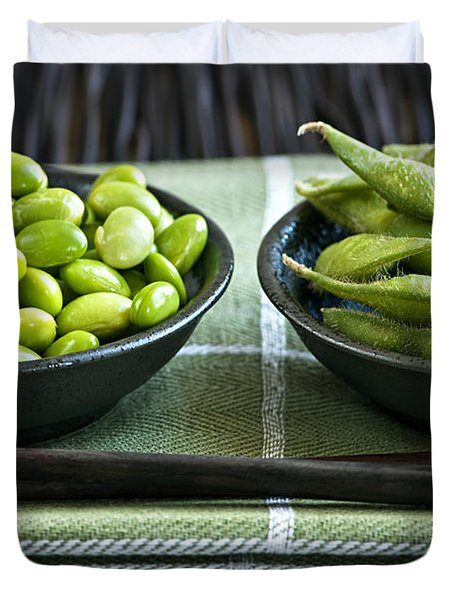 Soy Beans In Bowls Duvet Cover by Elena Elisseeva
