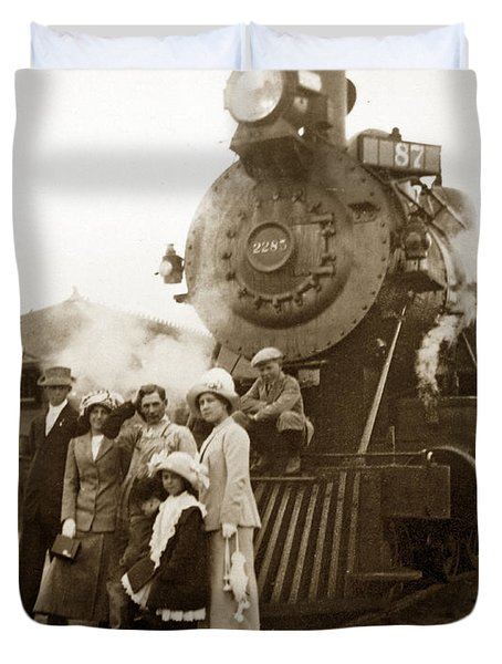 S P Baldwin Locomotive 2285  Class T-26 Ten Wheel Steam Locomotive At Pacific Grove California 1910 Duvet Cover