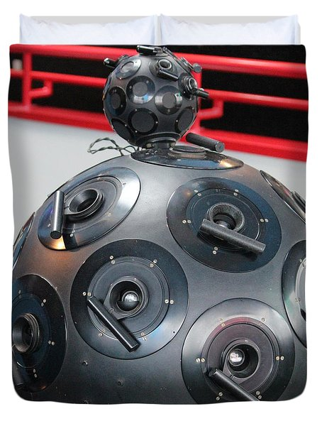 Duvet Cover featuring the photograph Space Balls by Cynthia Snyder