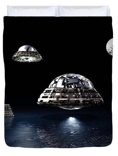 Space City Duvet Cover