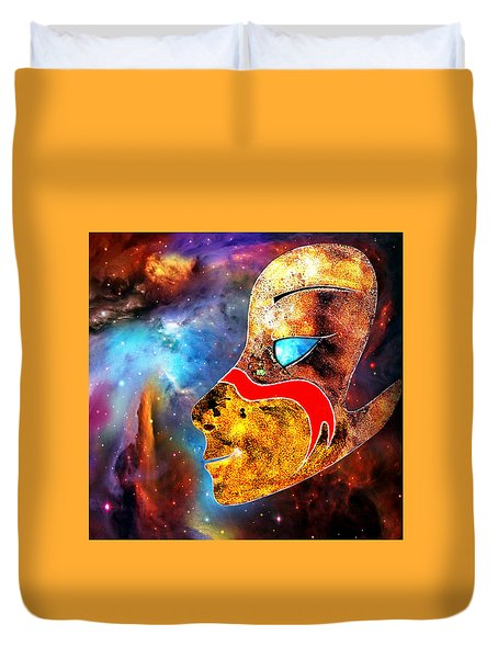 Duvet Cover featuring the painting Space  Glory by Hartmut Jager