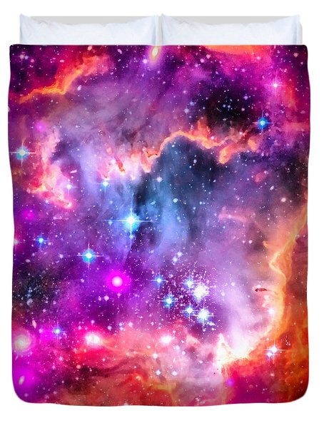 Space Image Small Magellanic Cloud Smc Galaxy Duvet Cover