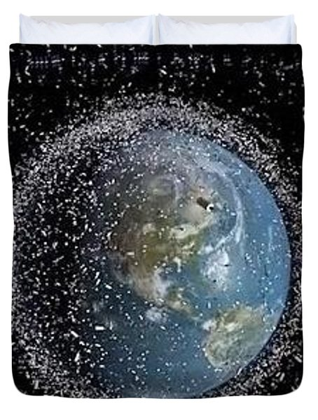 Duvet Cover featuring the photograph Space Junk by Science Source
