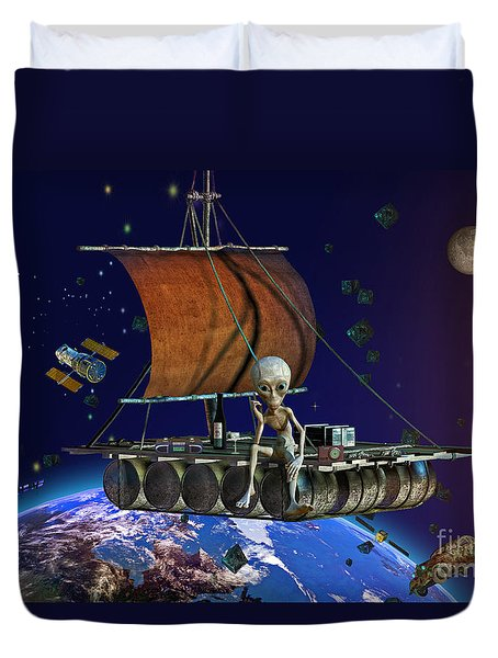 Space Junk Duvet Cover by Shadowlea Is