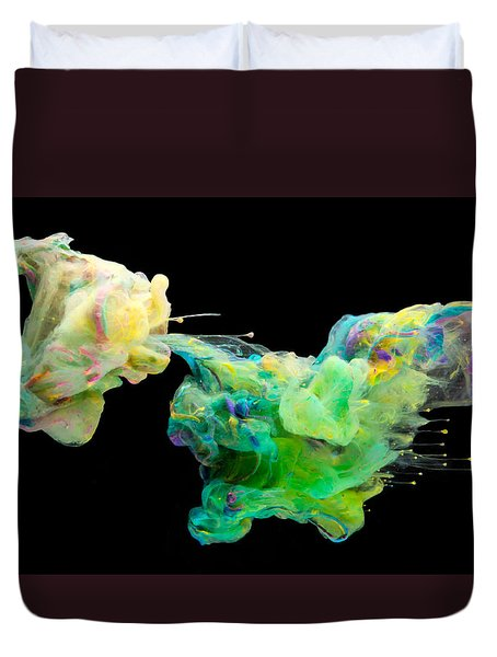 Space Romance - Abstract Photography Art Duvet Cover by Modern Art Prints
