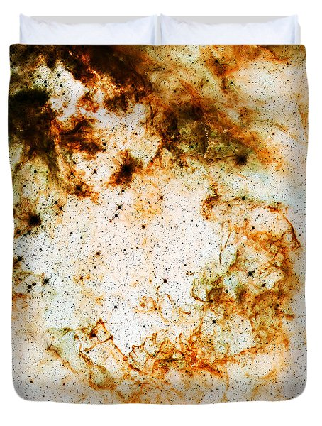 Space Rust Duvet Cover by Jennifer Rondinelli Reilly - Fine Art Photography