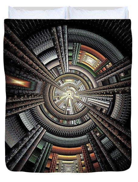 Space Station Duvet Cover by Anastasiya Malakhova
