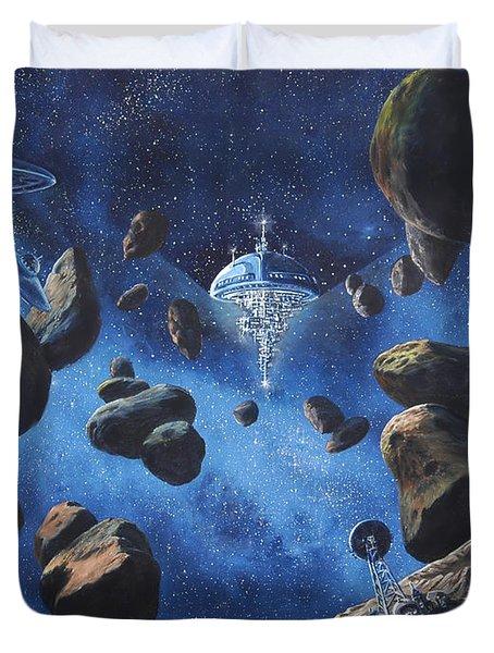 Space Station Outpost Twelve Duvet Cover by Murphy Elliott