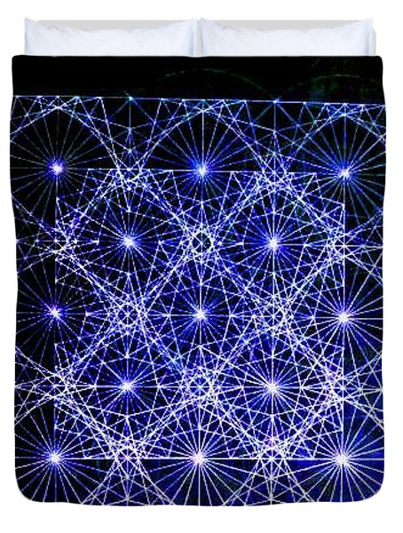 Space Time At Planck Length Vibrating At Speed Of Light Due To Heisenberg Uncertainty Principle Duvet Cover by Jason Padgett