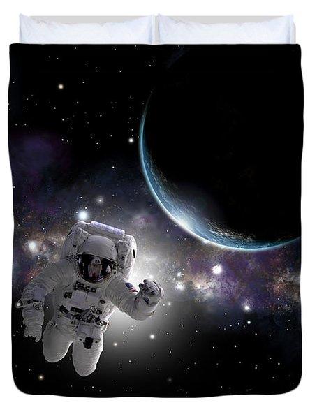 Space Walk  Duvet Cover