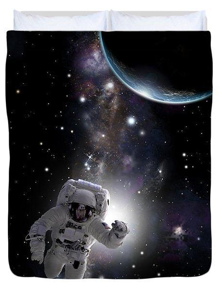 Space Walk  No.1v Duvet Cover