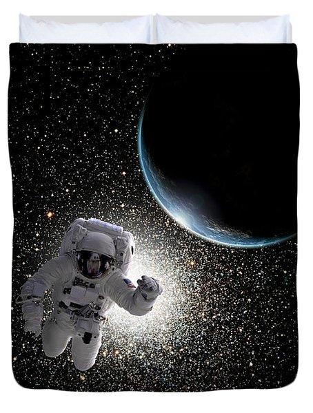 Space Walk No.5  Duvet Cover