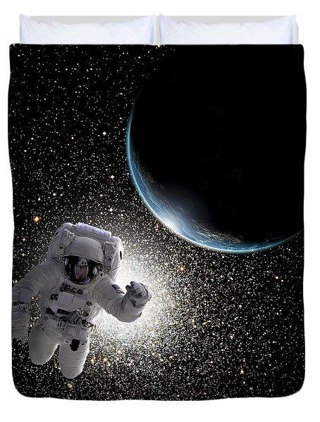 Space Walk No.6 Duvet Cover