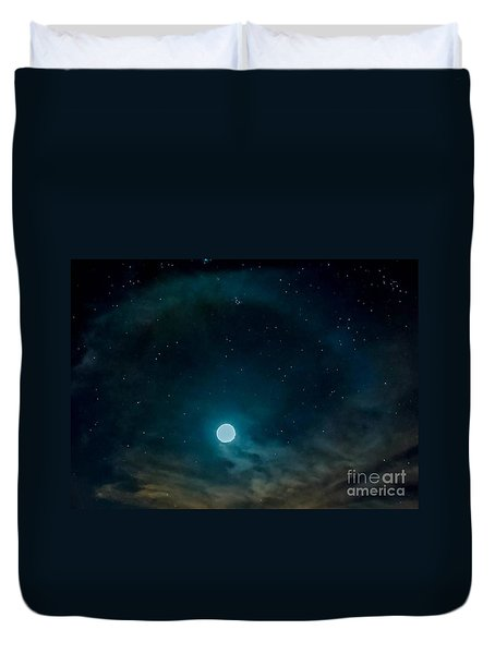 Space Window Duvet Cover