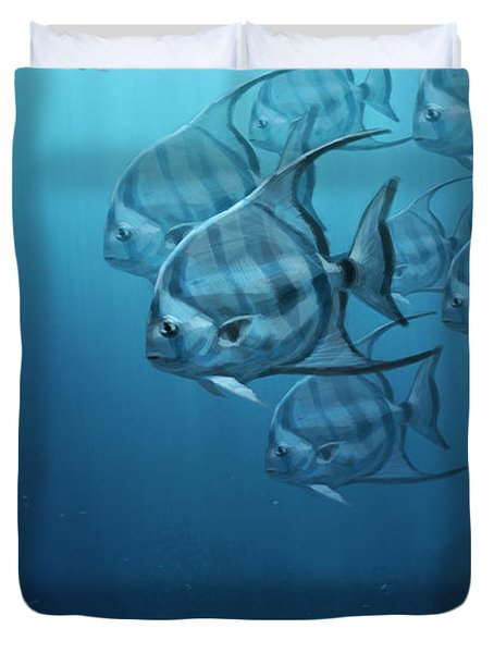 Spade Fish Duvet Cover by Aaron Blaise