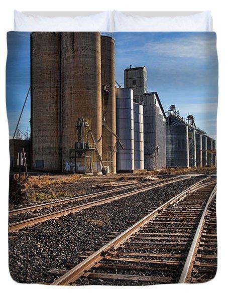 Spangle Grain Elevator Color Duvet Cover