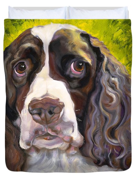 Spaniel The Eyes Have It Duvet Cover