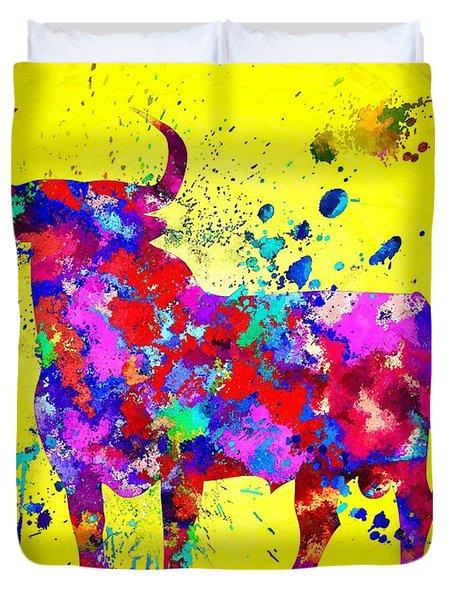 Spanish Bull Duvet Cover by Daniel Janda