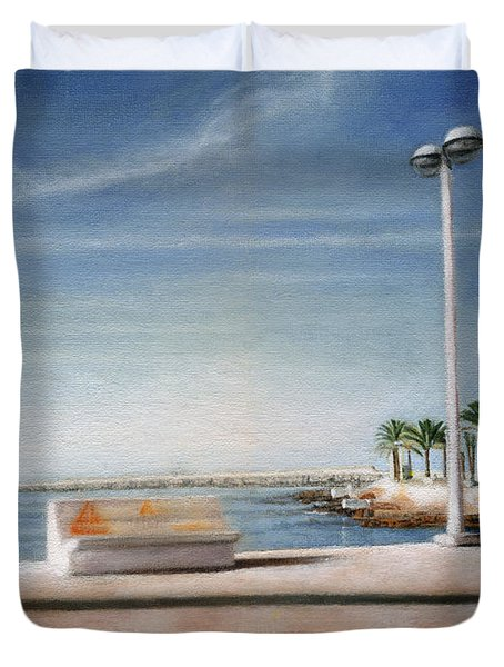 Spanish Coast Duvet Cover