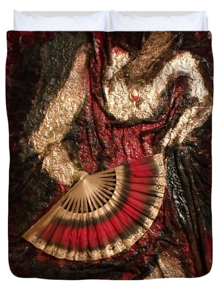 Spanish Dancer Framed Duvet Cover