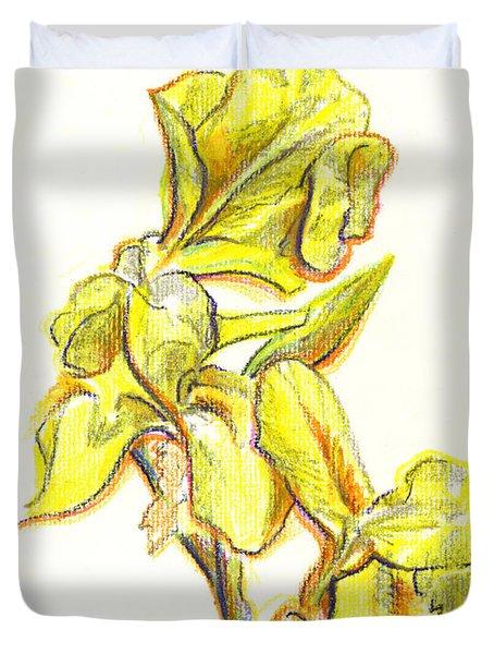 Spanish Irises Duvet Cover