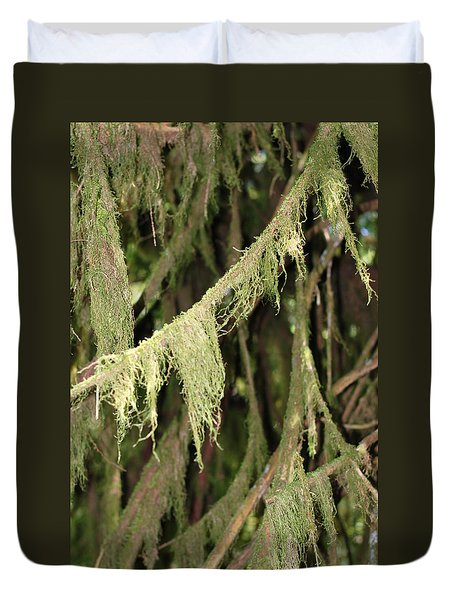 Spanish Moss In Olympic National Park Duvet Cover